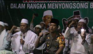 Lepas Pemilu Jelang Ramadhan Kapolres Jember Sejukkan Warga Dengan Sholawat