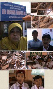 """Gedung SD Negeri 2 Ambulu Ambrol,  Komite Sekolah : """"Jangan Bohongi Rakyat"""""""